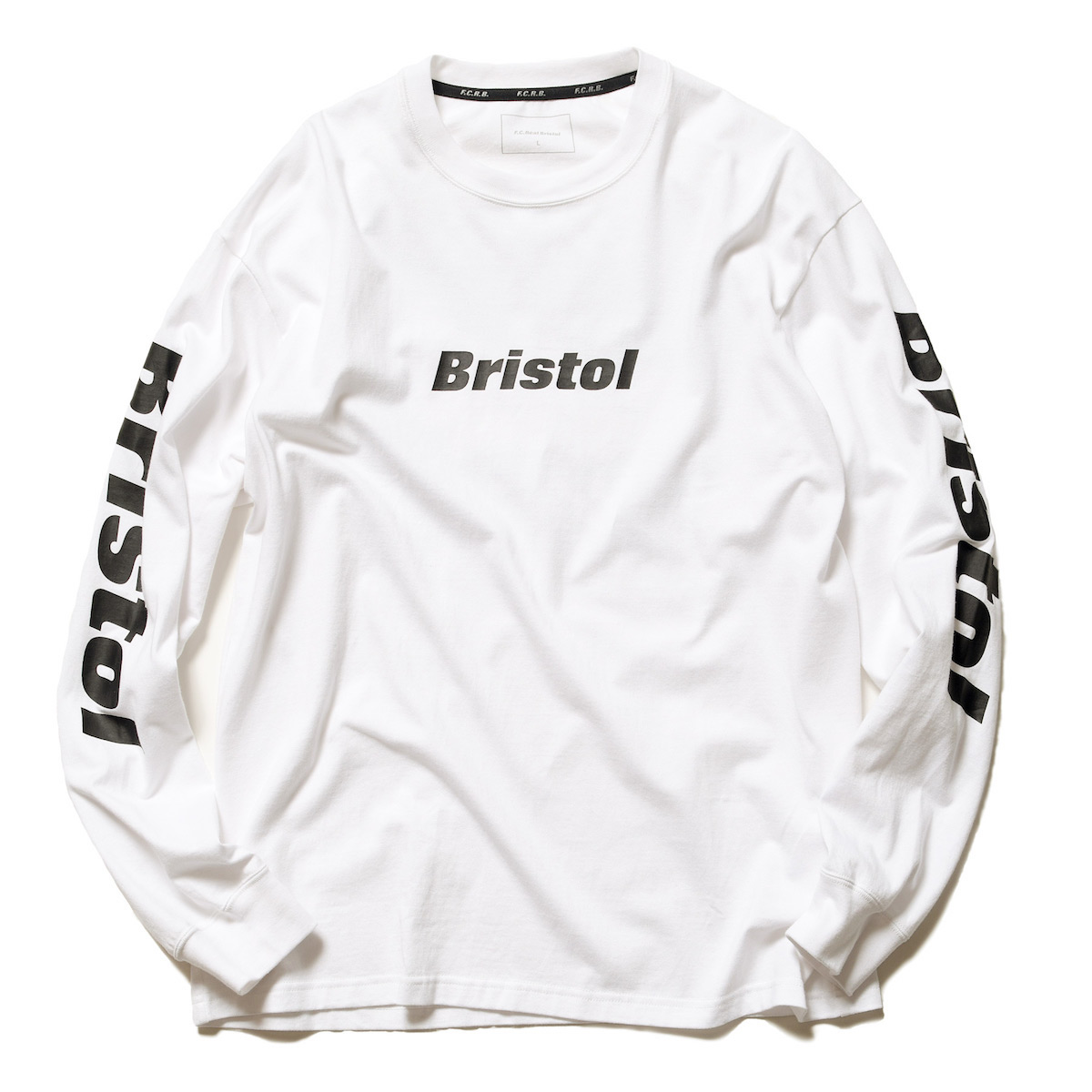 F.C.Real Bristol / CHECKER FLAME L/S TEE -White