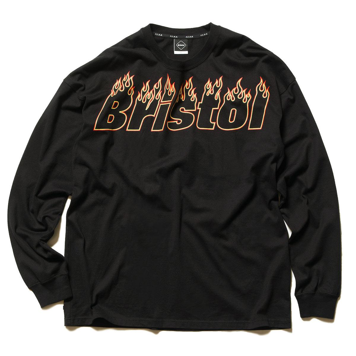 F.C.Real Bristol / FIRE BRISTOL L/S BIG TEE -Black