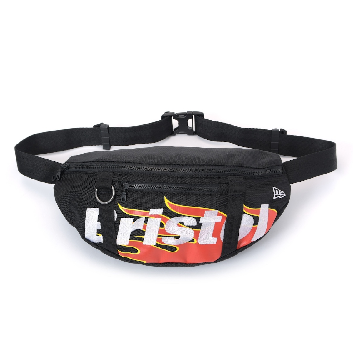 F.C.Real Bristol / NEW ERA FIRE FLAME WAIST BAG -Black