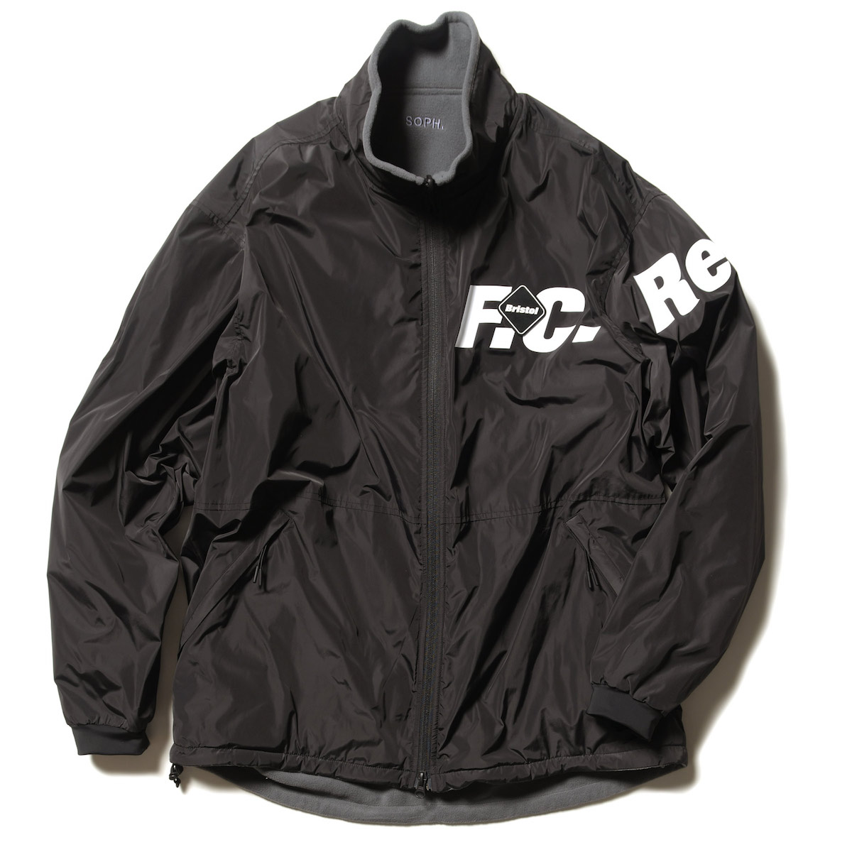 F.C.Real Bristol / POLARTEC FLEECE REVERSIBLE BLOUSON (Black/Gray)
