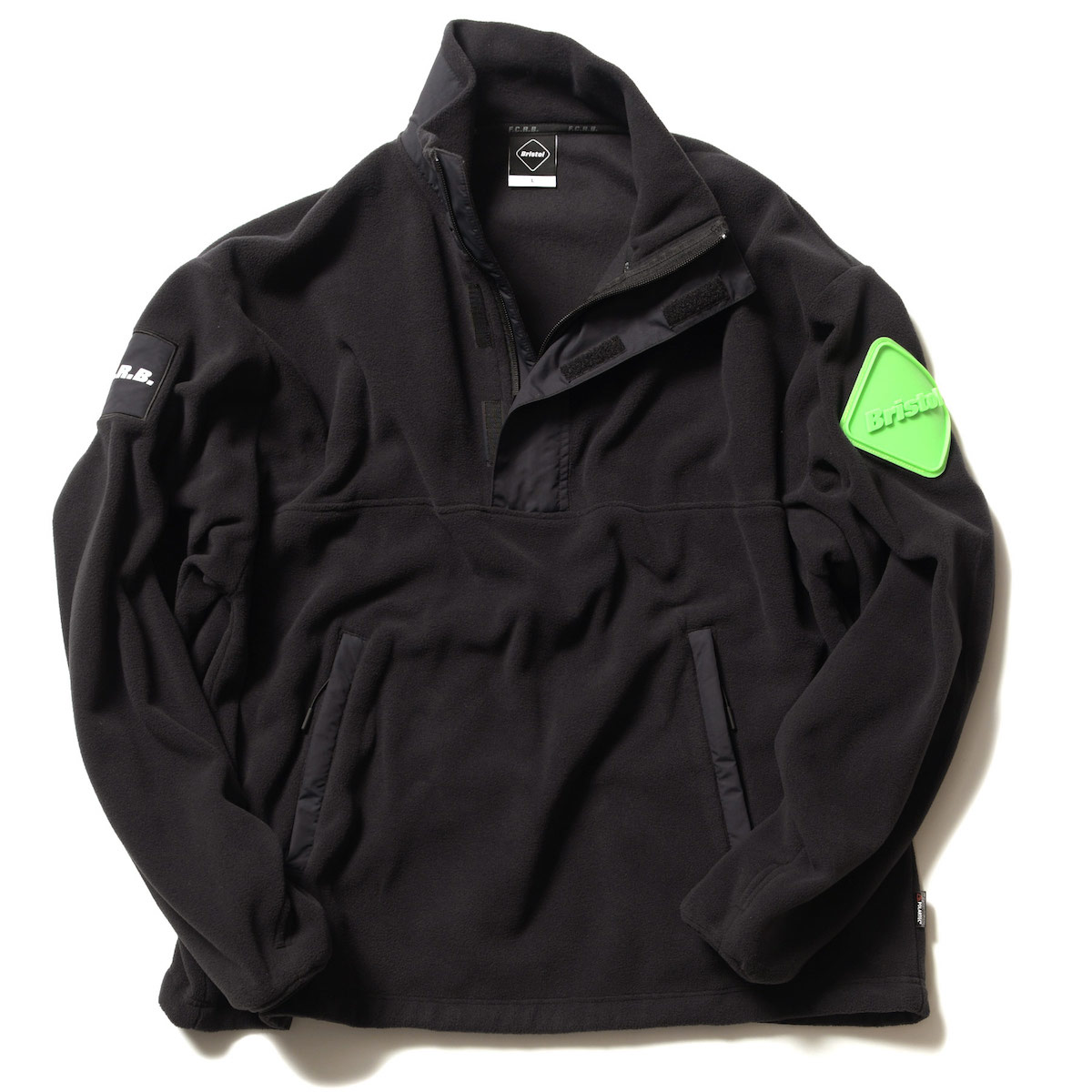 F.C.Real Bristol / POLARTEC MICRO FLEECE HALF ZIP BLOUSON (Black)