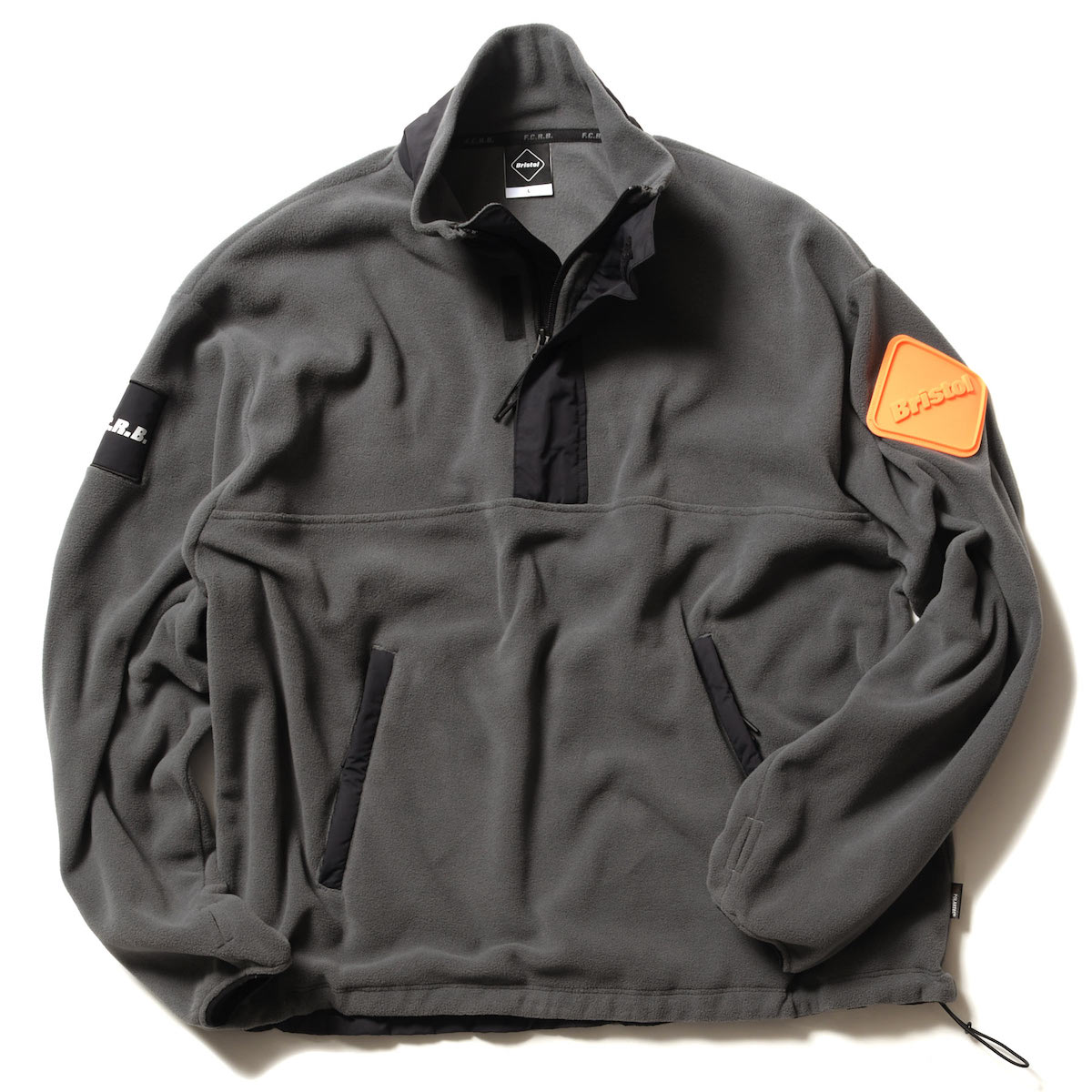 F.C.Real Bristol / POLARTEC MICRO FLEECE HALF ZIP BLOUSON (Gray)