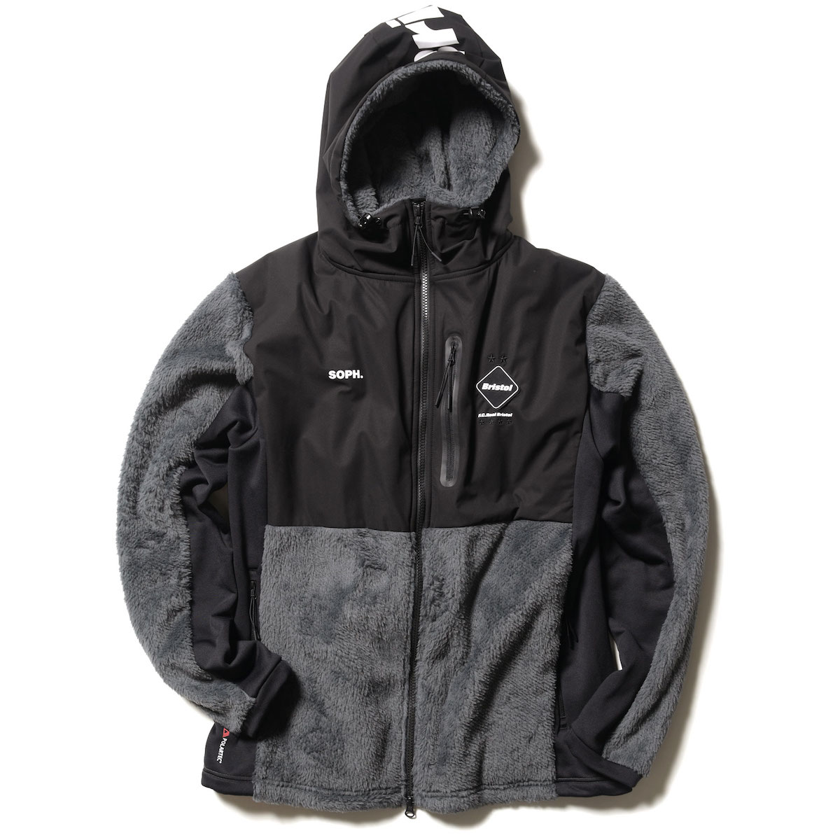 F.C.Real Bristol / POLARTEC FLEECE HYBRID BLOUSON (Gray)