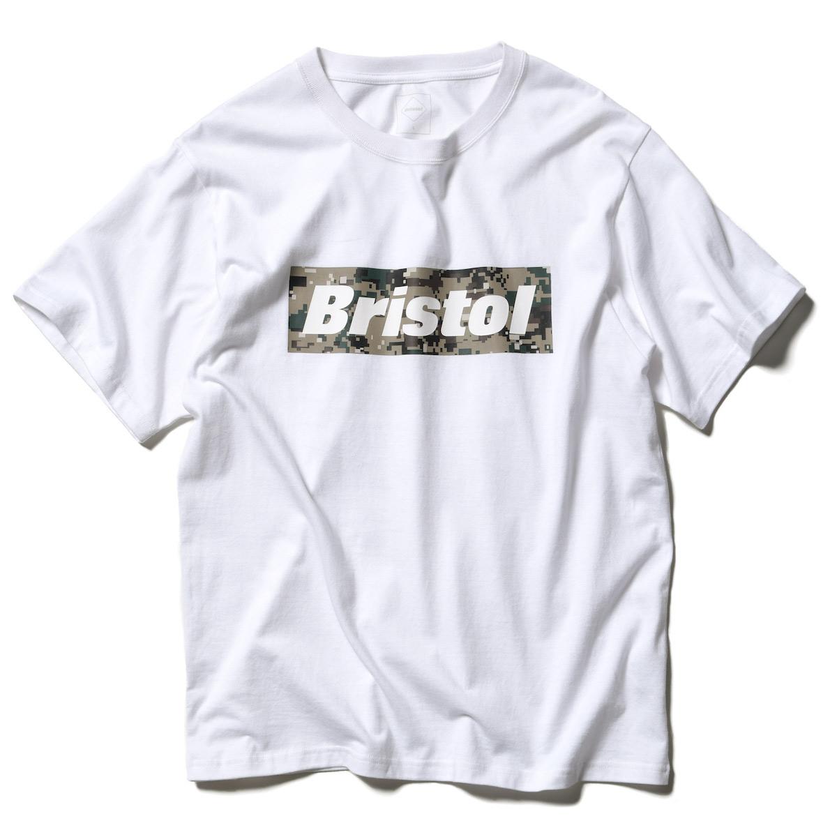 F.C.Real Bristol / CAMOUFLAGE BOX LOGO TEE -White