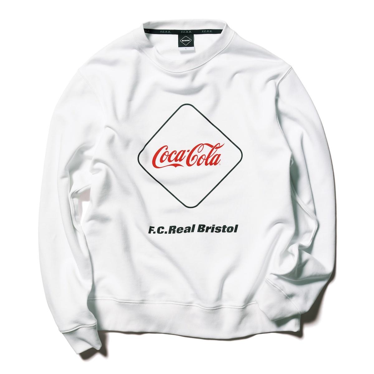 F.C.Real Bristol / COCA-COLA EMBLEM CREWNECK SWEAT (White)