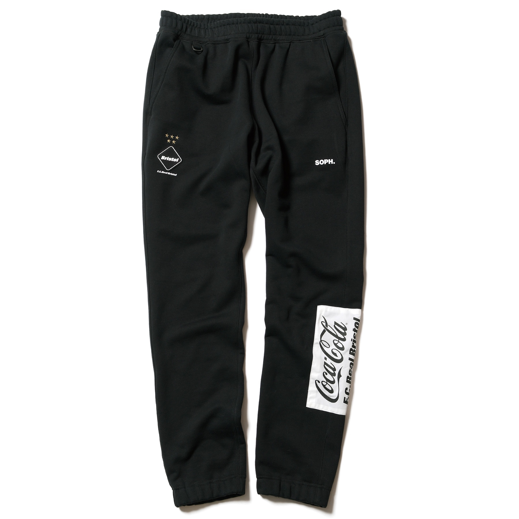 F.C.Real Bristol / COCA-COLA PATCHED SWEAT PANTS (Black)