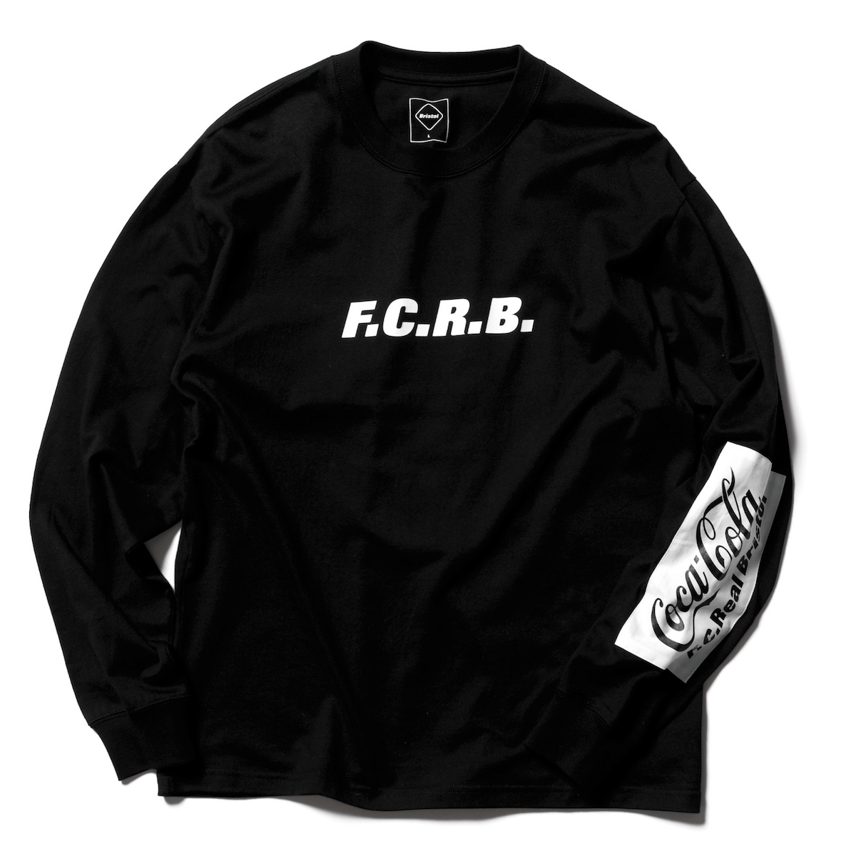 F.C.Real Bristol / COCA-COLA PATCHED L/S TEE (Black)