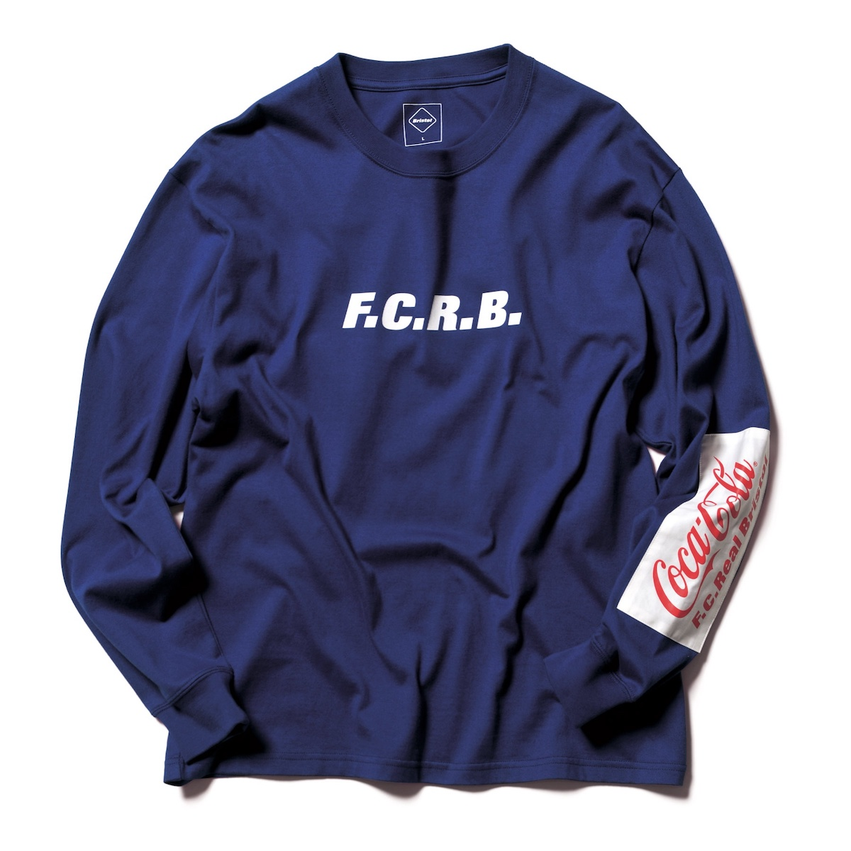 F.C.Real Bristol / COCA-COLA PATCHED L/S TEE (Navy)