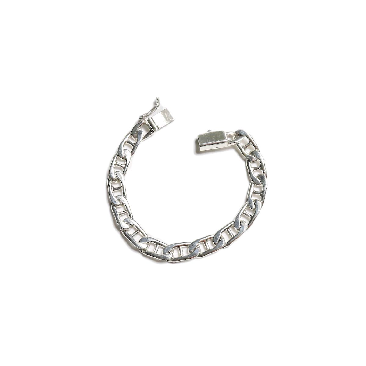 FIFTH SILVER / silver-1490-1 Silver Chain Bracelet (8mm) 正面