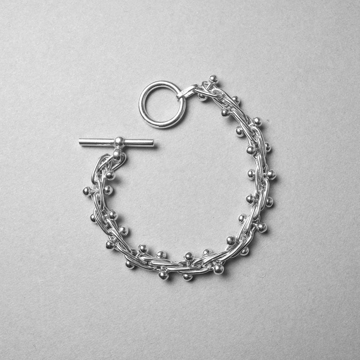 FIFTH SILVER / Silver Beaded Bracelet / Medium