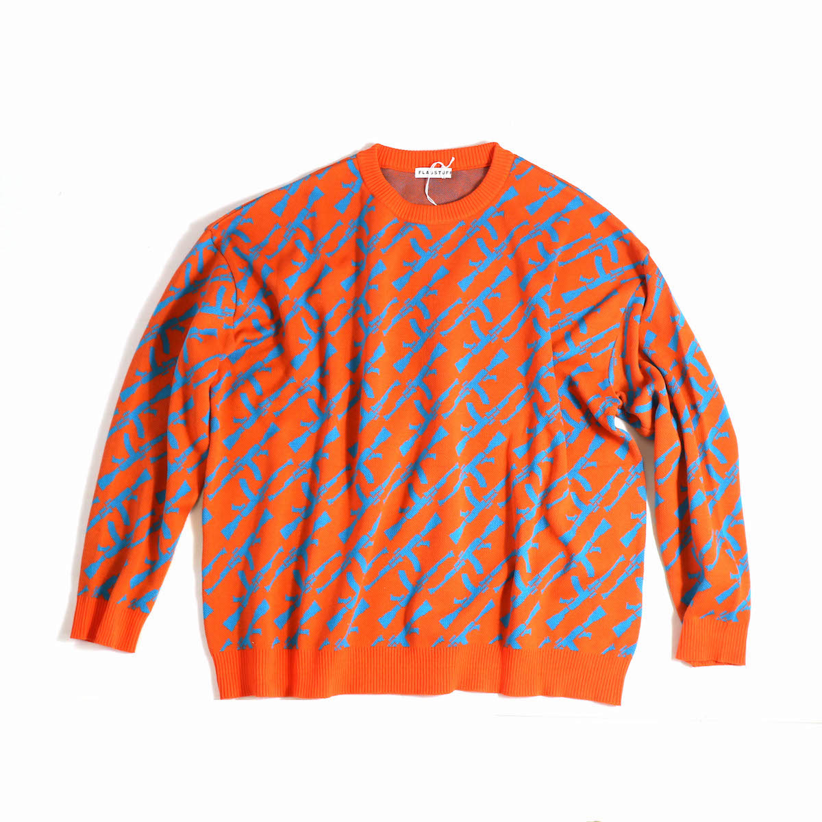 "F-LAGSTUF-F / ""AK-47"" COTTON SWEATER -ORANGE"