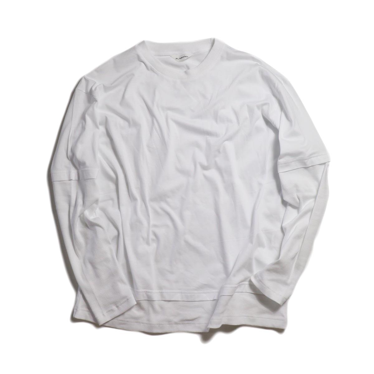 FLAMAND / GANG TEE -WHITE