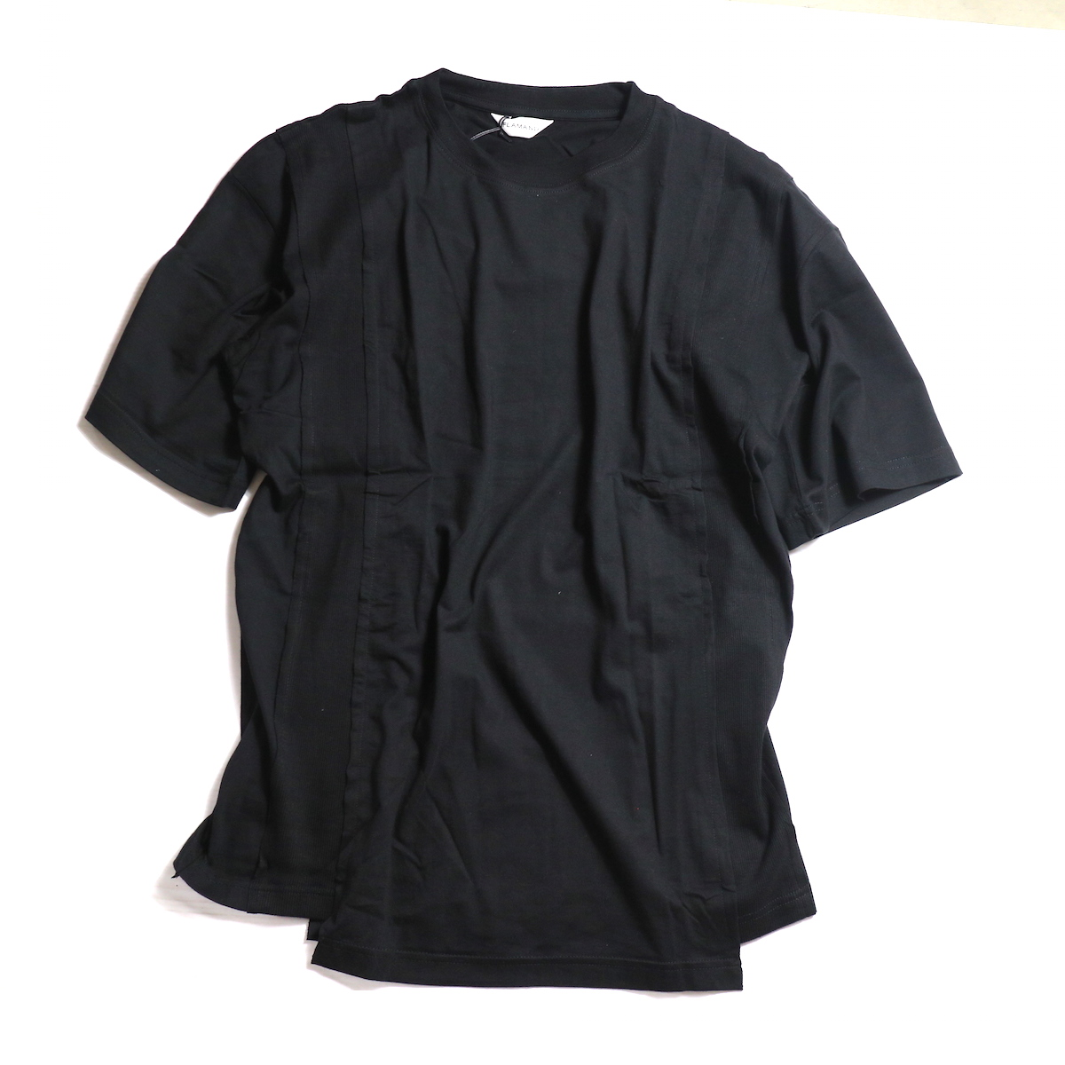 FLAMAND / Panel Tee Solid -Noir(Black)