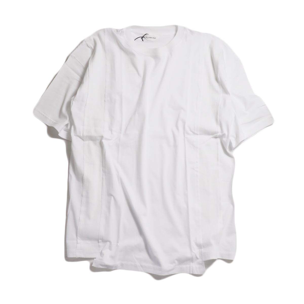 FLAMAND / Panel Tee Solid -Blanc(White)