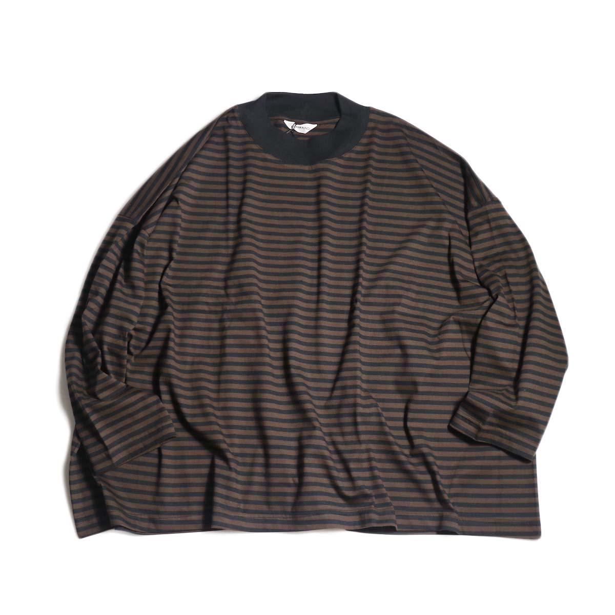 FLAMAND / Big Boxy Stripe (Dk.Brown × Noir)