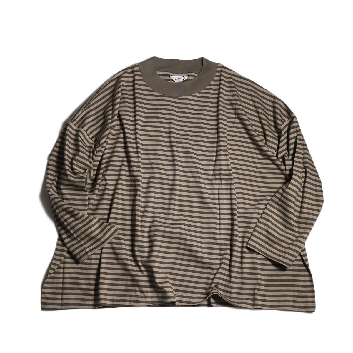 FLAMAND / Big Boxy Stripe (Mocha × Beige)
