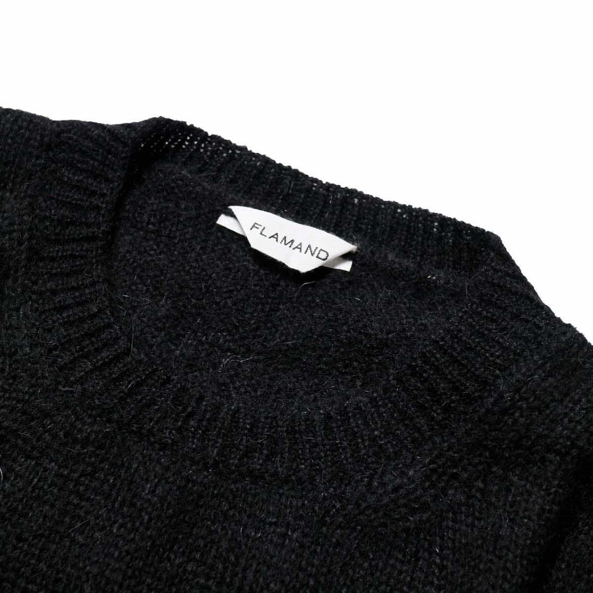 FLAMAND / Mohair Basic (Black)クルーネック