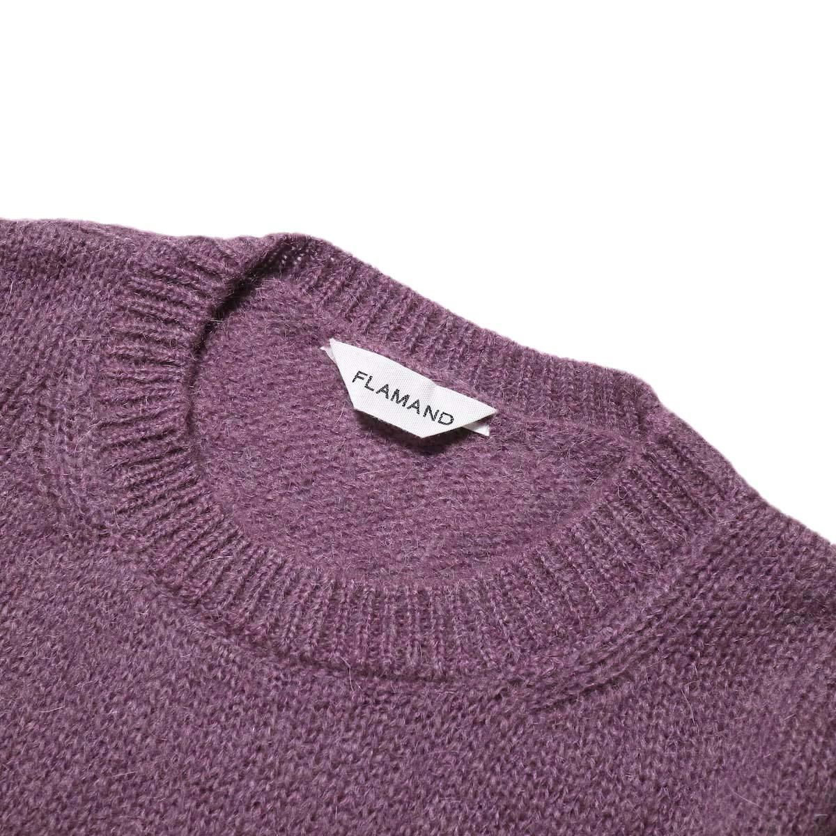 FLAMAND / Mohair Basic (Dark Lavender)クルーネック