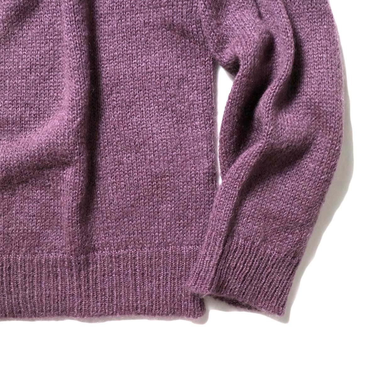 FLAMAND / Mohair Basic (Dark Lavender)袖、裾