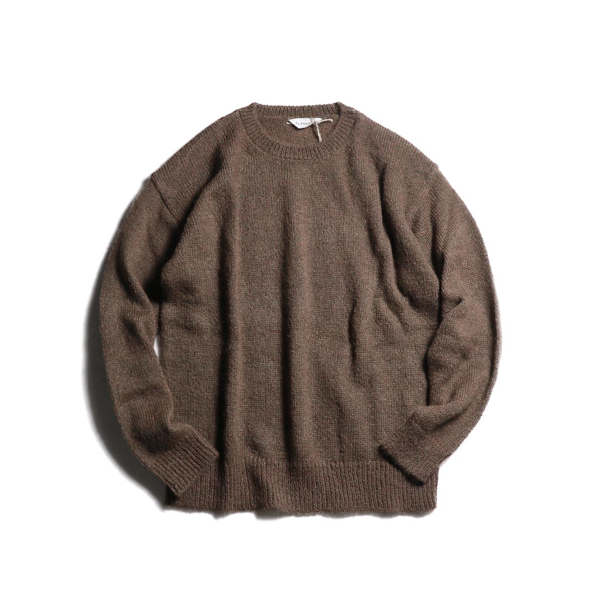 FLAMAND / Mohair Crew (Brown) 正面