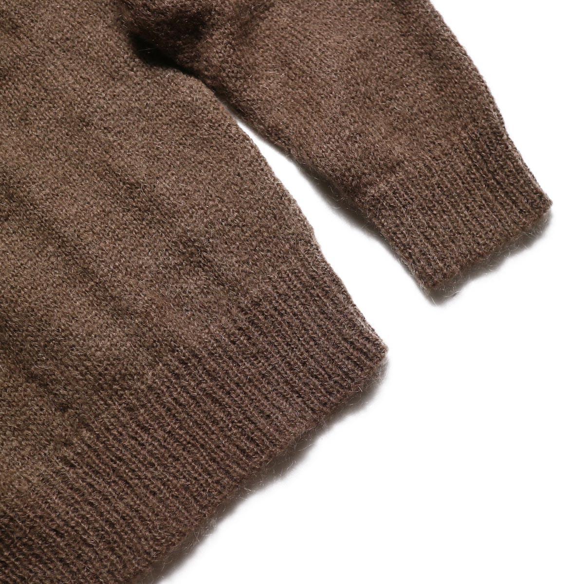 FLAMAND / Mohair Crew (Brown) 袖、裾