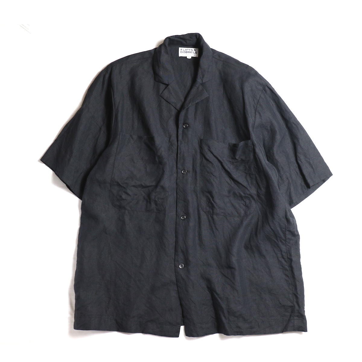 FLIPTS & DOBBELS /  Open S/S Shirts -Black