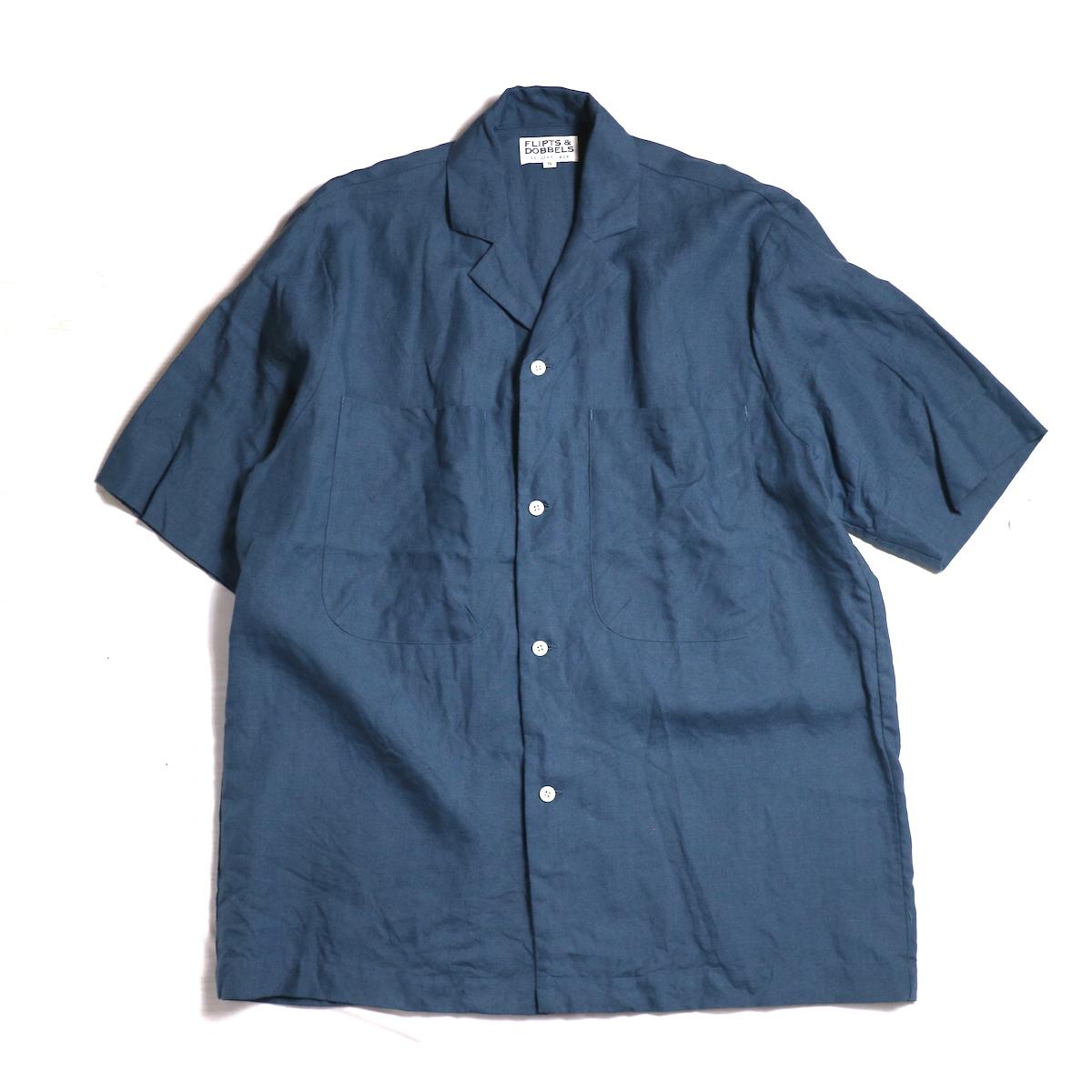 FLIPTS & DOBBELS /  Open S/S Shirts -Petrol
