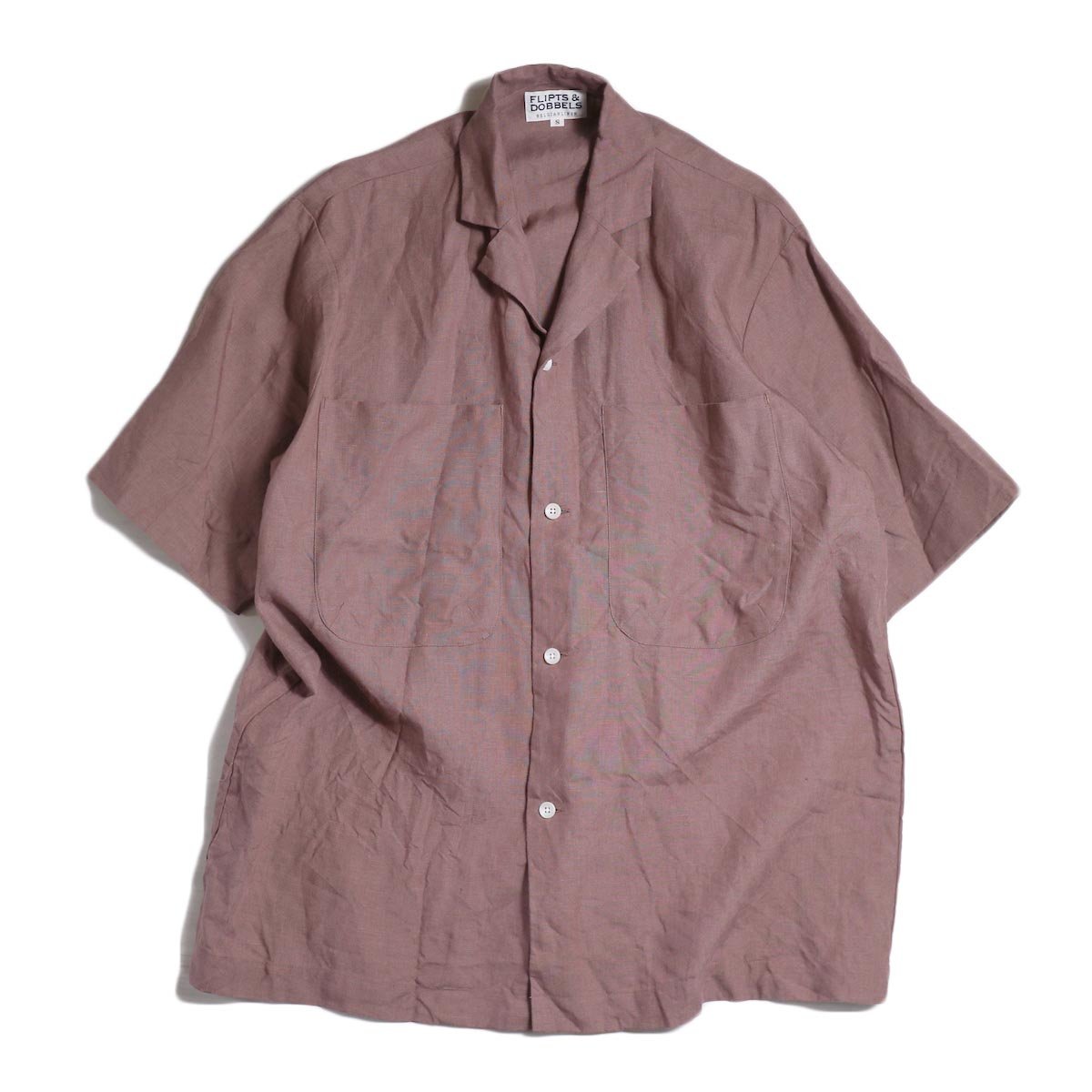 FLIPTS & DOBBELS /  Open S/S Shirts -Old Rose
