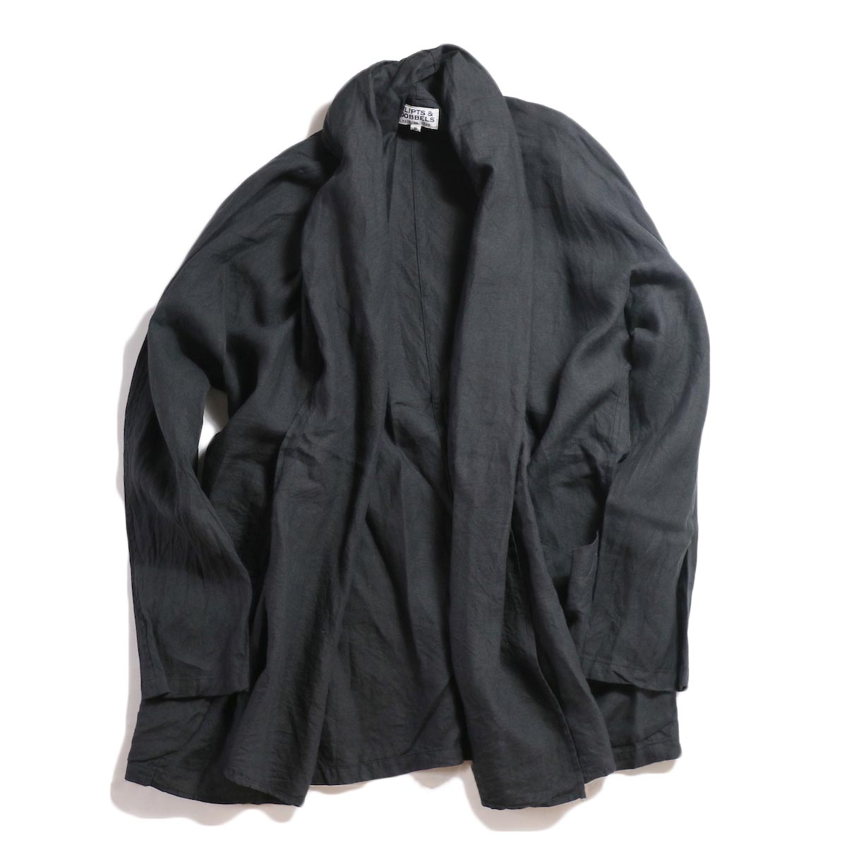 FLIPTS & DOBBELS /  Linen Robe -Black
