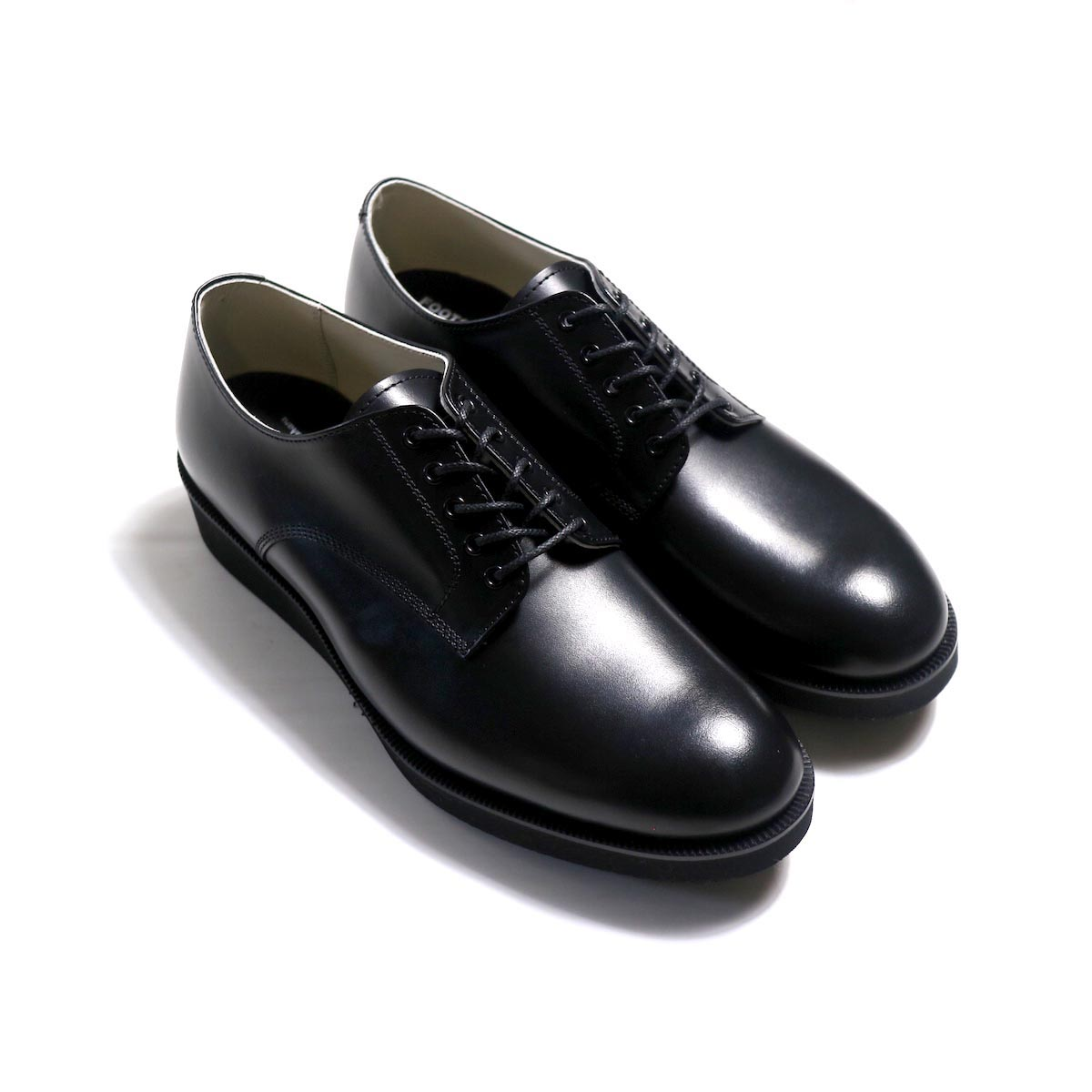 FOOTSTOCK ORIGINALS / SERVICEMAN SHOES (FITTER SOLE)(SHOELACE)-BLACK(FS183401-ES)
