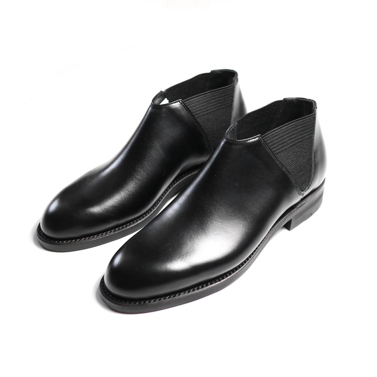 BEAUTIFUL SHOES / Middle Side Gore Boots -BLACKa(BSS1734005)