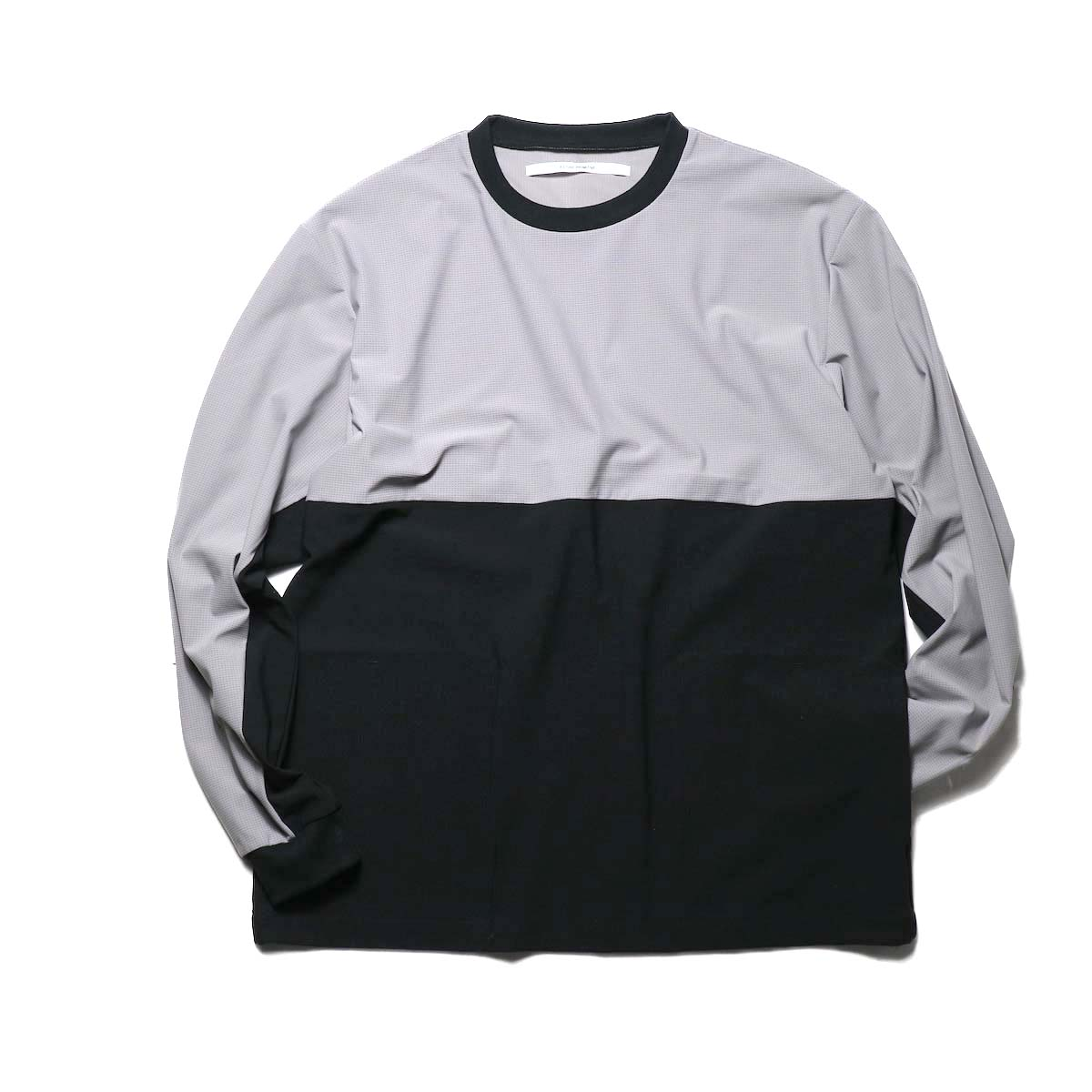 FUTURE PRIMITIVE / FP 2TONE MESH CREW  (Gray × Black)