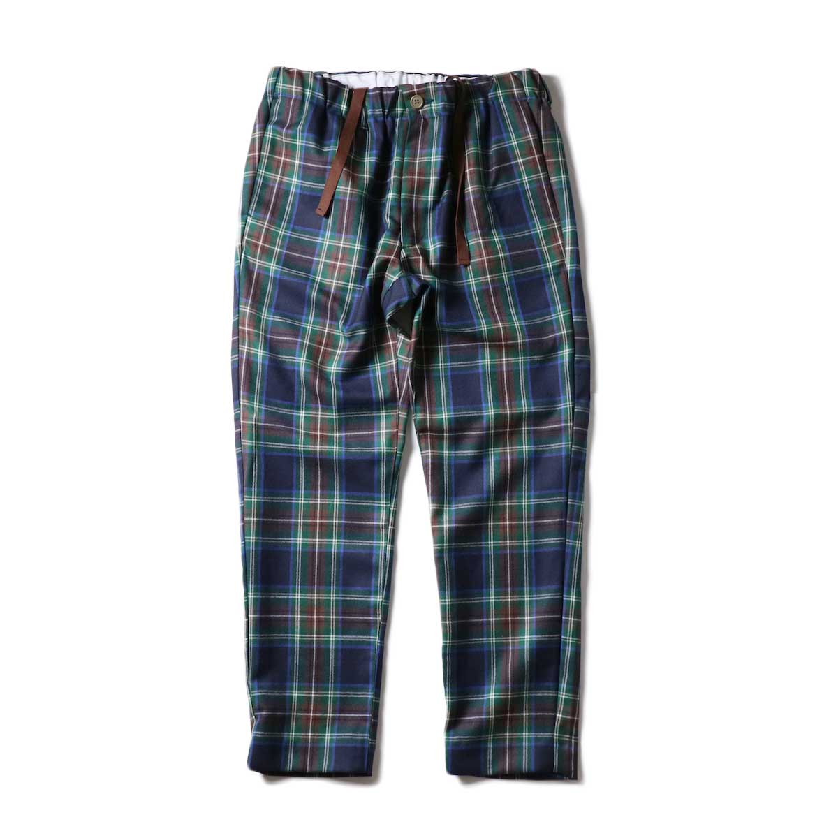 """FUTURE PRIMITIVE / FP EASY PANTS II """"CHECKERS"""" (Navy#2)正面"""