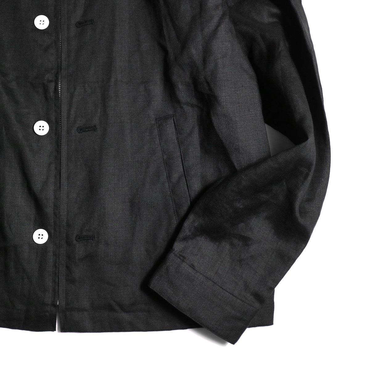"FUTURE PRIMITIVE / FP HARRINGTON JKT ""LINEN"" (Black)裾、袖"