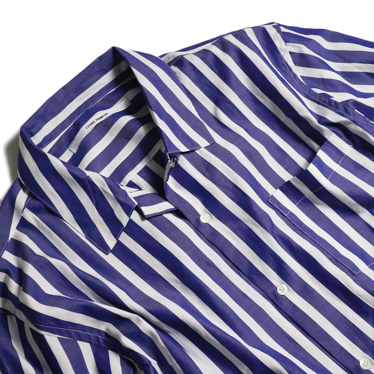 FUTURE PRIMITIVE / FP LOUNGE SHIRT (Candy Stripe)襟