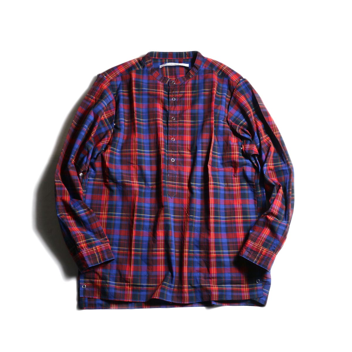FUTURE PRIMITIVE / FP MODULAR SHIRT (MADRAS) -Blue/Red