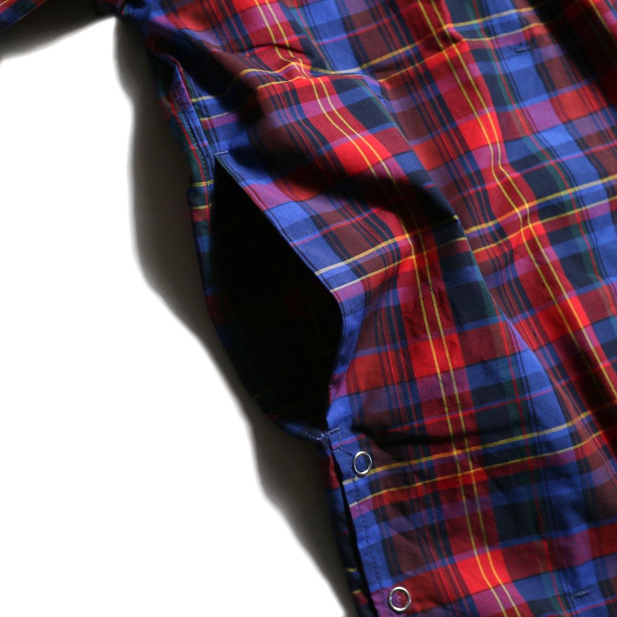 FUTURE PRIMITIVE / FP MODULAR SHIRT (MADRAS) -Blue/Red サイドポケット