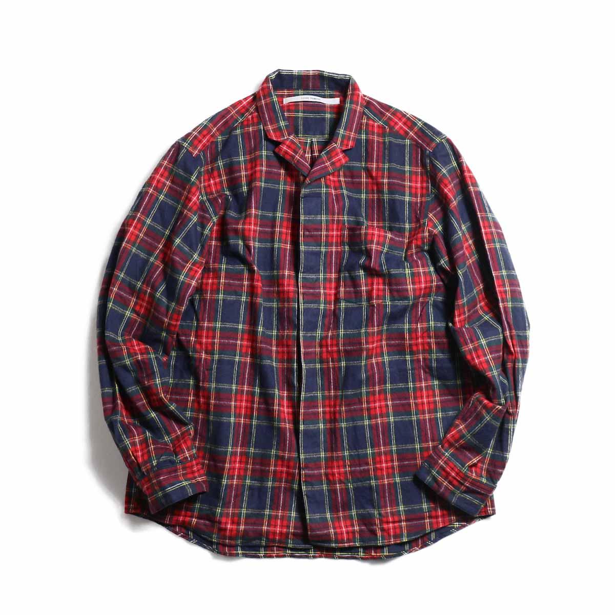 FUTURE PRIMITIVE / FP Notched Shirt(Tartan) -Navy