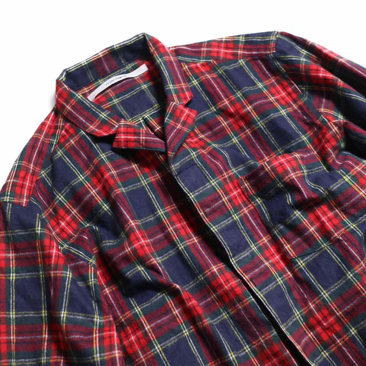 FUTURE PRIMITIVE / FP Notched Shirt(Tartan) -Navy 首元