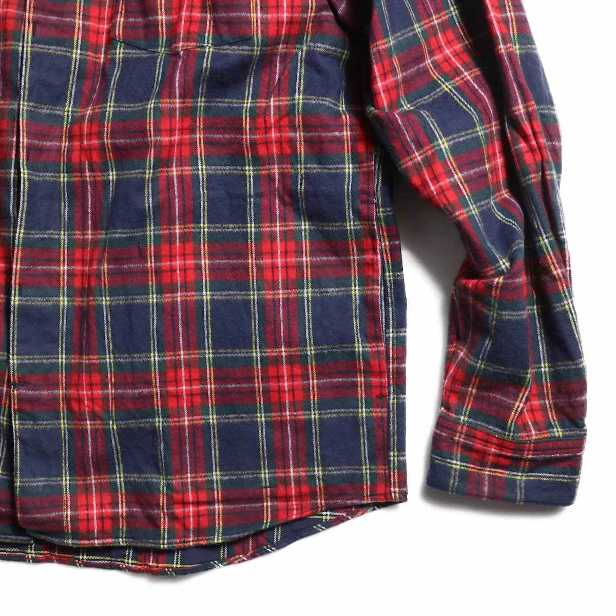 FUTURE PRIMITIVE / FP Notched Shirt(Tartan) -Navy 裾