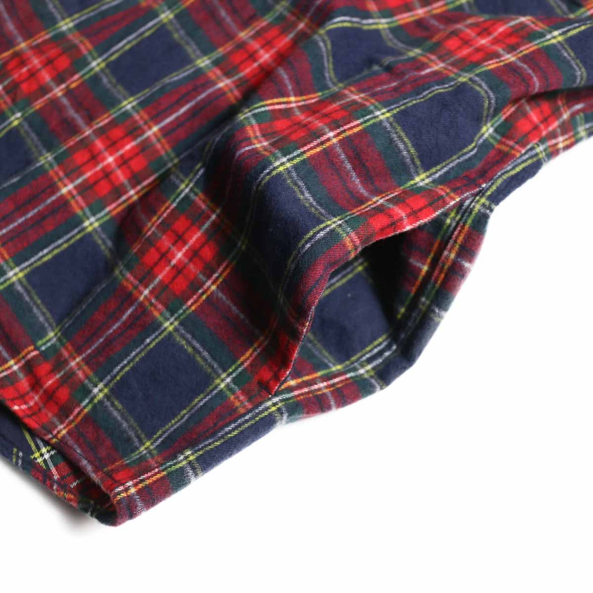 FUTURE PRIMITIVE / FP Notched Shirt(Tartan) -Navy ポケット