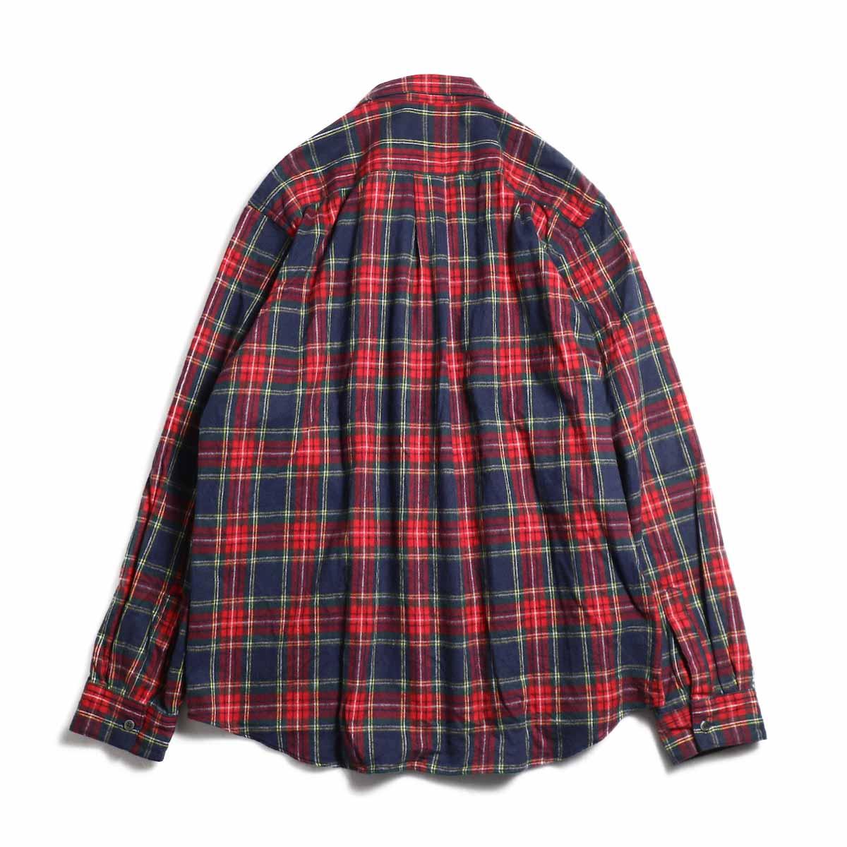 FUTURE PRIMITIVE / FP Notched Shirt(Tartan) -Navy 背面