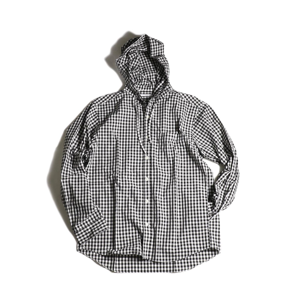 "FUTURE PRIMITIVE / FP SUBTROPIC HOODIE SHIRT ""GINGHAM"" (Black)"