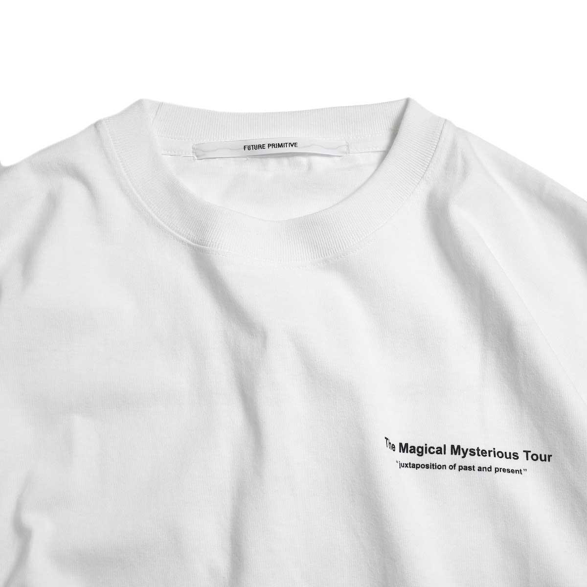 FUTURE PRIMITIVE / FP TMMT T-shirt -White 正面ロゴ