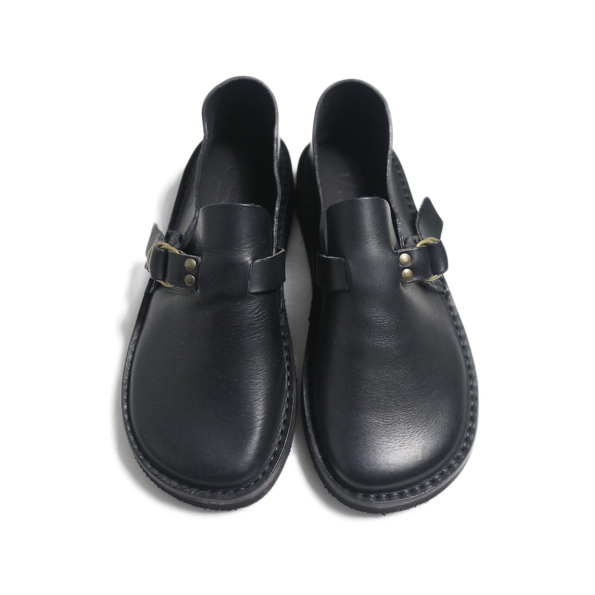 Fracap / R007 Leather Shoes -Black 正面