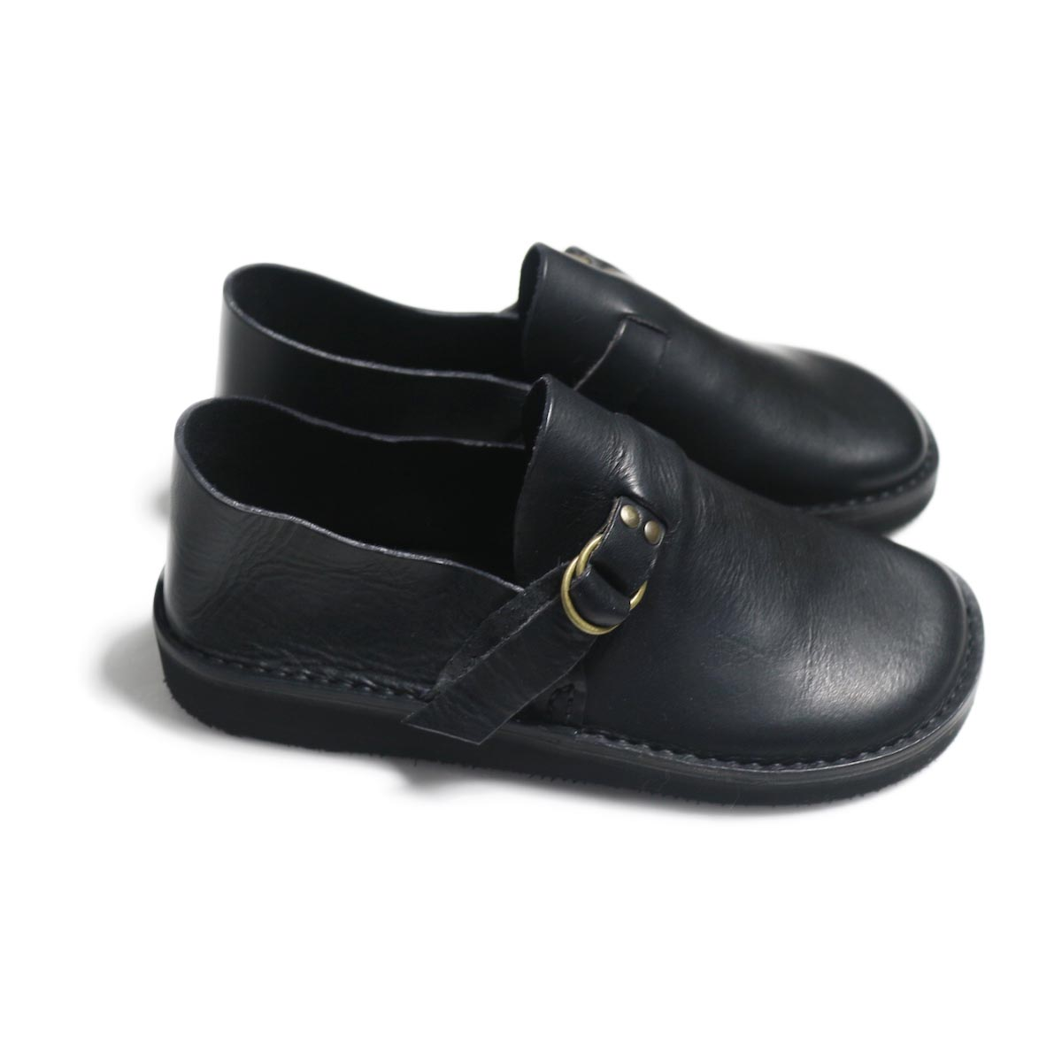 Fracap / R007 Leather Shoes -Black サイド