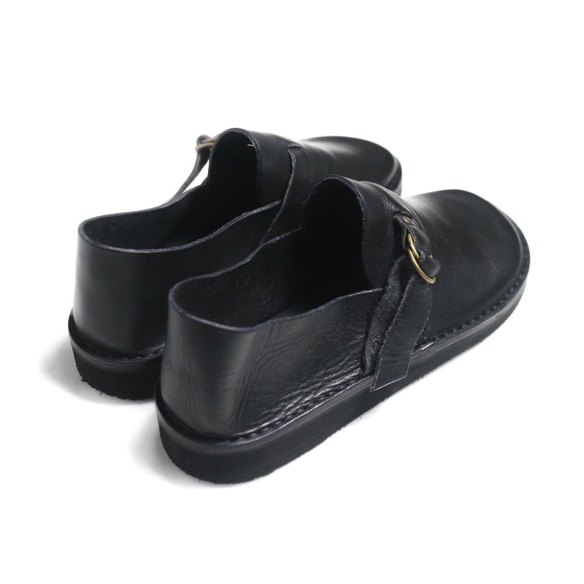Fracap / R007 Leather Shoes -Black 背面