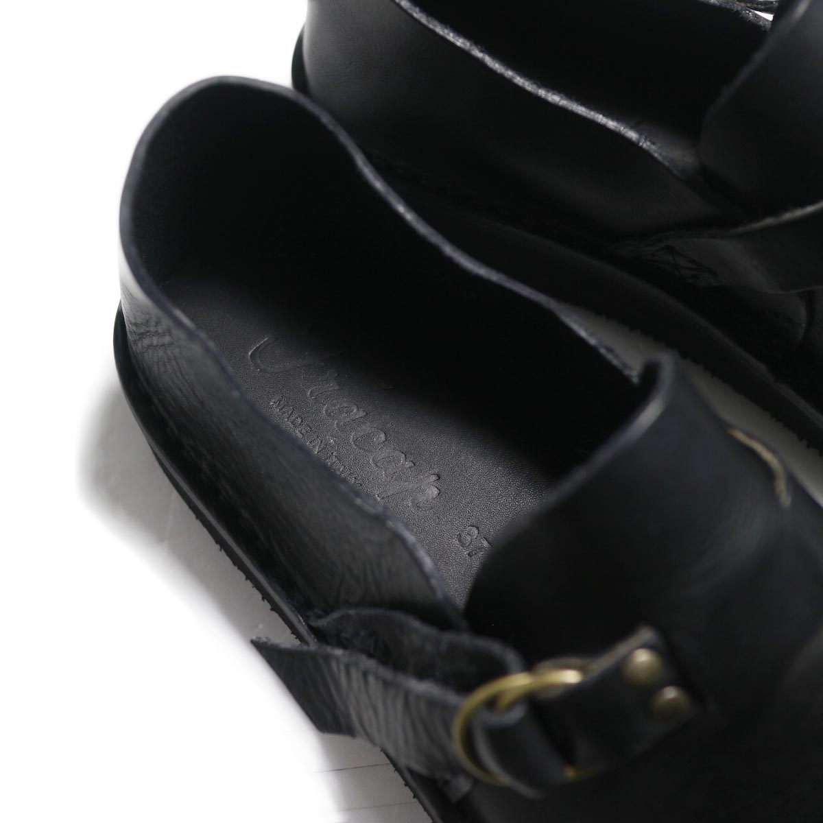 Fracap / R007 Leather Shoes -Black インソール