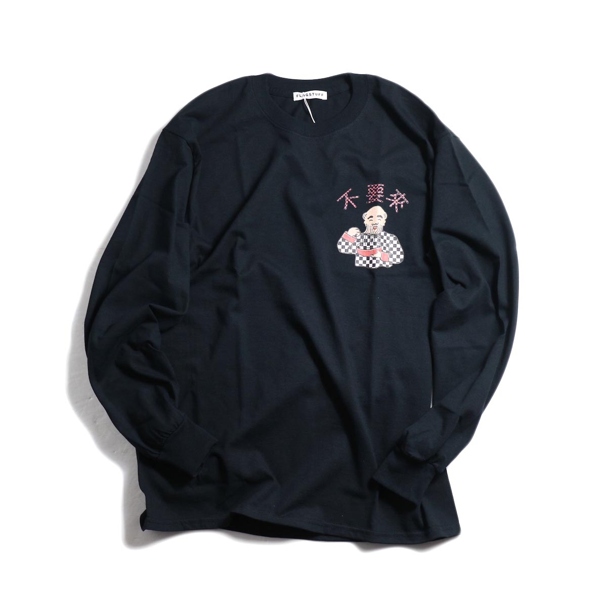 F-LAGSTUF-F × Don't Come / L/S TEE (BLACK)