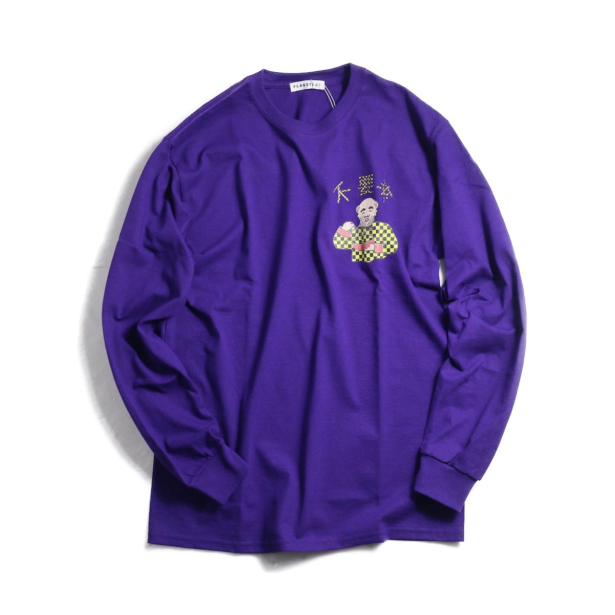 F-LAGSTUF-F × Don't Come / L/S TEE (PURPLE)